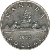 Canada: 1947 $1 P7 VF30 (Imperfections)