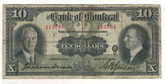 Canada: 1931 $10 Banknote - Bank of Montreal 113794