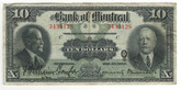Canada: 1923 $10 Banknote - Bank of Montreal 343128