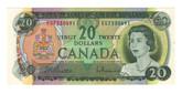 Canada: 1969 $20 Banknote Bank of Canada Lot#10