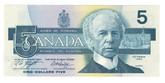 Canada: 1986 $5 Bank Of Canada Banknote ANS