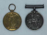 WWI: British War & Allied Victory Medal Pair - 1914-1919