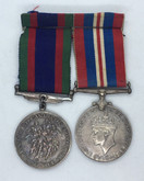WWII: Voluntary Service & War Medal Pair - 1939-1945