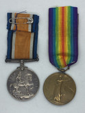 British War & Allied Victory Medal Pair - WWI 1914-1919 - PTE. J. STONE - Rifle Brigade