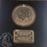 Canada: 1998 $50 10th Anniversary of the Silver Maple Leaf Coin -  10oz