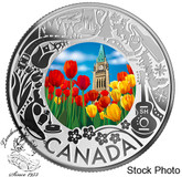 Canada: 2019 $3 Celebrating Canadian Fun and Festivities: Tulips Pure Silver Coloured Coin