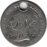 "Love Token: ""DM Jan 11&12"" and ""97"" On Great Britain 1842, 4 Pence Host Coin"