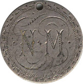 "Love Token: ""NM"" On UK Victorian, 3 Pence Host Coin"