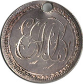 "Love Token: ""EMB"" on Victorian Canadian 5 Cent Host Coin"
