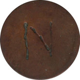 "Love Token: ""N"" On 1883, US 1 Cent Host Coin"