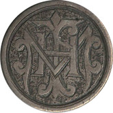 "Love Token: ""HIM"" on Victorian Canadian 10 Cent Host Coin"