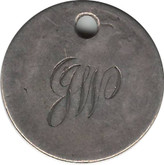 "Love Token: ""GW"" On UK Victorian,  6 Pence Host Coin"