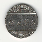 "Love Token: ""MMFL"" On US 1877, 10 Cent Host Coin"