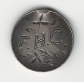 "Love Token: ""FHC"" on Victorian Canadian 5 Cent Host Coin"