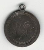 "Love Token: ""MG"" on Victorian Canadian 5 Cent Host Coin"