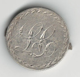"Love Token: ""LC"" on Victorian Canadian 25 Cent Host Coin"