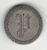 "Love Token: ""P"" On US 1861, 10 Cent Host Coin"