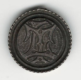 "Love Token: ""LT"" on Victorian Canadian 10 Cent Host Coin"