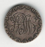 "Love Token: ""HFW"" on 1902 Victorian Canadian 10 Cent Host Coin"