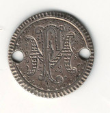 "Love Token: ""FM"" On US 1871, 10 Cent Host Coin"