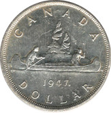 Canada: 1947 $1 ML Maple Leaf EF