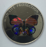 Congo: 2002 5 Francs Wild Life Protection Butterfly Coin