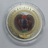 Solomon Islands: 2014 2 Dollars Scarab Beetle Coloured Coin