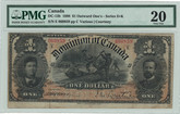 Canada: 1898 $1 Dominion of Canada Banknote DC-13b PMG VF20