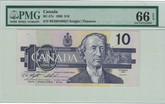 Canada: 1989 $10 Bank Of Canada Banknote PMG MS66