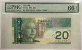 Canada: 2002 $20 Bank Of Canada Radar Banknote PMG MS66