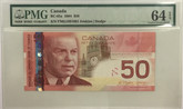 Canada: 2004 $50 Bank Of Canada Radar Banknote PMG MS64