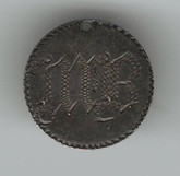 "Love Token: ""MB"" on Victorian Canadian 5 Cent Host Coin"