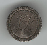 "Love Token: ""JL"" on Victorian 1889 Canadian 5 Cent Host Coin"