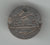 "Love Token: ""GNA"" on Victorian Canadian 10 Cent Host Coin"