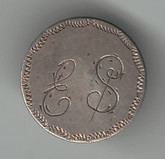 "Love Token: ""ES"" on George V Canadian 10 Cent Host Coin"