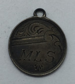 "Love Token: ""MLS"" on Victorian Canadian 5 Cent Host Coin"