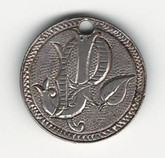 "Love Token: ""PJ"" on Victorian Canadian 5 Cent Host Coin"