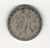 "Love Token: ""WR"" On US 1884, 10 Cent Host Coin"