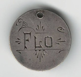 "Love Token: ""FLO"" On Great Britain 3 Pence Host Coin"