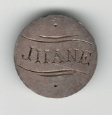"Love Token: ""Jhane"" On Great Britain 3 Pence Host Coin"