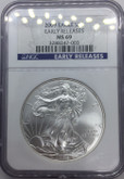 United States: 2009 American Silver Eagle NGC MS69 Lot#2
