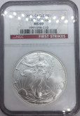 United States: 2006 American Silver Eagle First Strikes NGC MS69