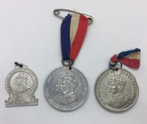 Medal Lot: 1935 - 1939 King George Queen Mary Queen Elizabeth Medals Cadbury Coronation (3 Pieces)