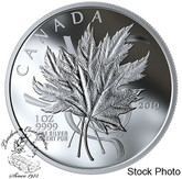 Canada: 2019 $20 The Beloved Maple Leaf 1oz Pure Silver Coin