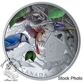 Canada: 2019 $30 Birds in the Backyard 2 oz. Pure Silver Coloured Coin