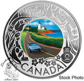 Canada: 2019 $3 Celebrating Canadian Fun and Festivities: Coastal Drive Pure Silver Coloured Coin