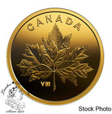 Canada: 2019 25 Cent Bouquet of Maple Leaves 0.5 g Pure Gold Coin