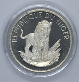 Republic of Niger: 1968 10 Francs Lion Silver