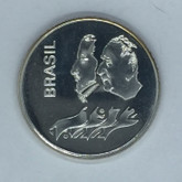 Brasil: 1972 20 Cruzeiros Silver