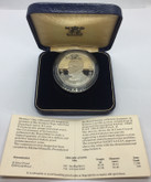 St. Lucia: 1986 5 Dollar Papal Visit Coin Pope John Paul II Silver